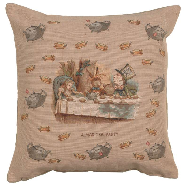 The Tea Party Alice In Wonderland Decorative Tapestry Pillow