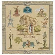 Paris Arc De Triomphe French Tapestry Cushion