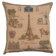 Paris Tour Eiffel Decorative Tapestry Pillow