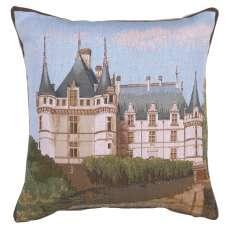 Castle Azay Le Rideau Decorative Tapestry Pillow