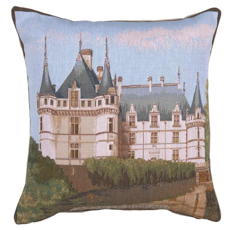 Castle Azay Le Rideau French Tapestry Cushion