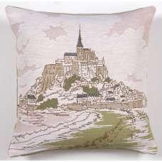 Mont Saint Michel 1 Decorative Tapestry Pillow