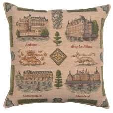 Loire's castle Decorative Tapestry Pillow