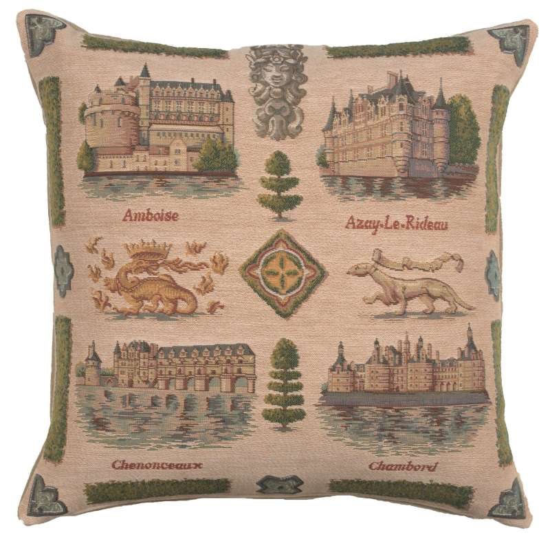 Loire's castle French Tapestry Cushion