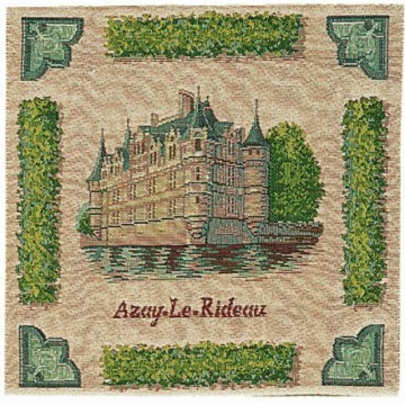 Azay Le Rideau French Tapestry Cushion
