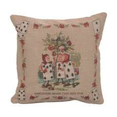 The Garden Alice In Wonderland French Tapestry Cushion