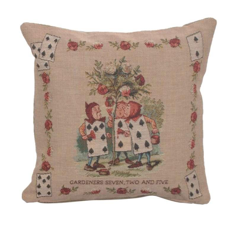 The Garden Alice In Wonderland Decorative Tapestry Pillow