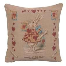 Heart Rabbit Alice In Wonderland I French Tapestry Cushion