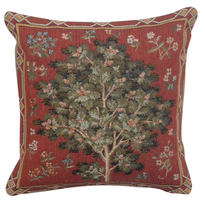Medieval Oak French Tapestry Cushion