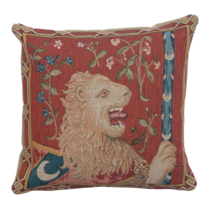 The Medieval Lion French Tapestry Cushion