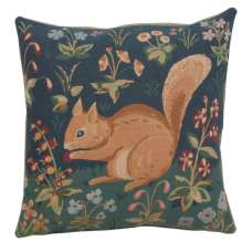 Medieval Squirrel Decorative Tapestry Pillow