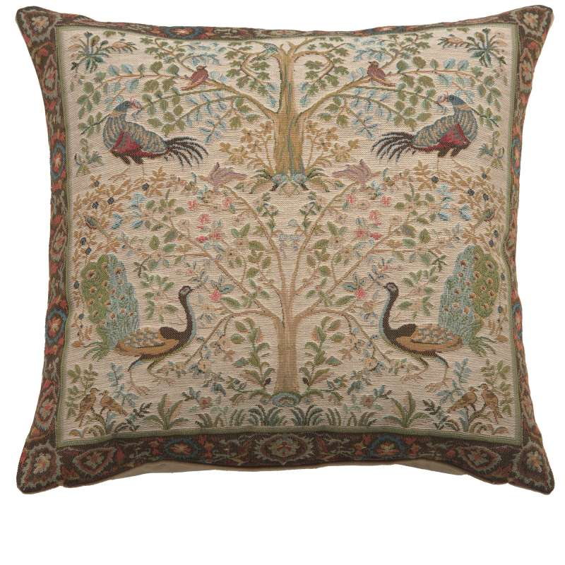 Tree In Cream 1 French Tapestry Cushion