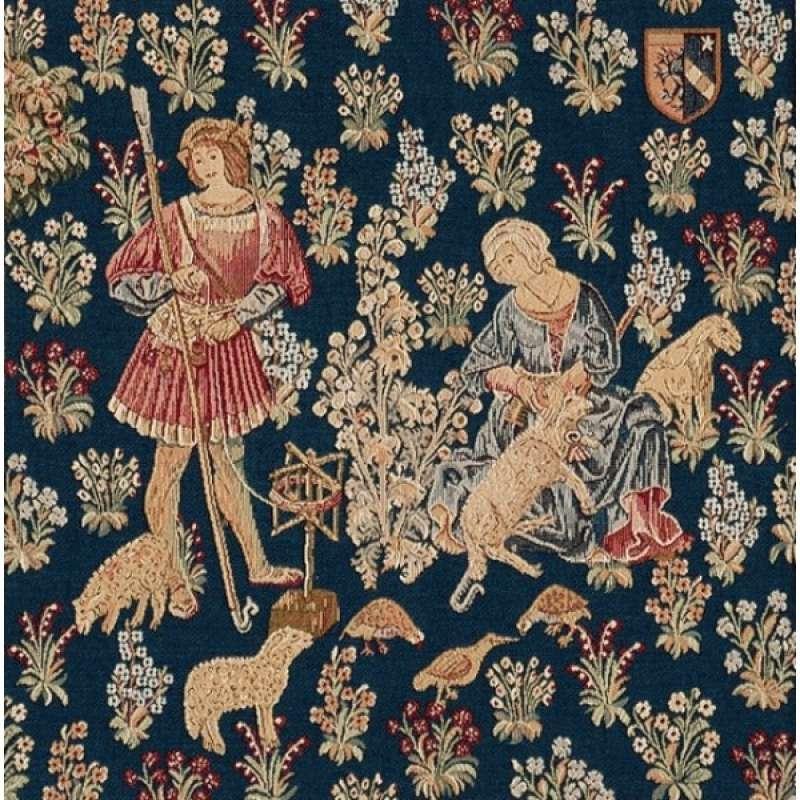 Travail De La Laine 1 French Tapestry Cushion