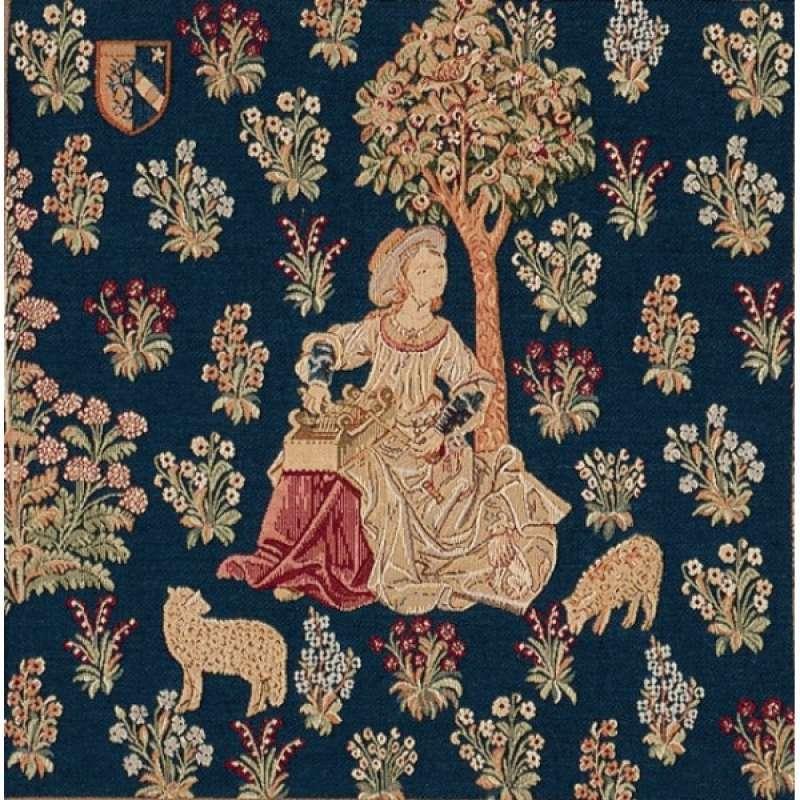 Cushion La Fileuse De Laine 1 French Tapestry Cushion