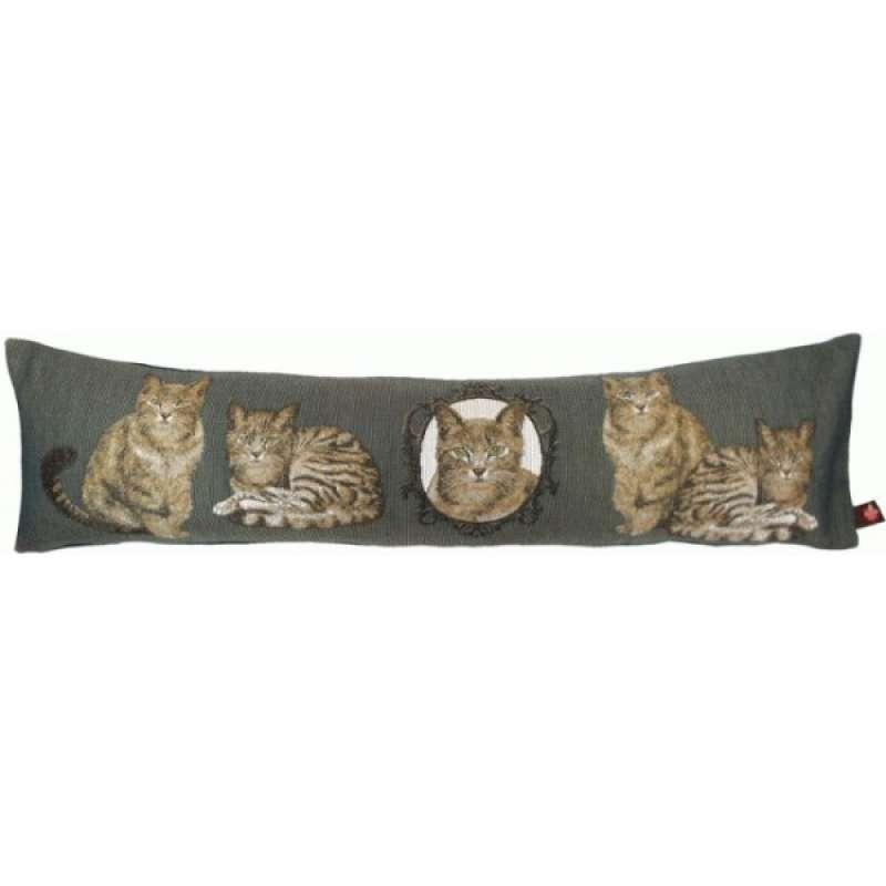 Cats Dark Grey Cushion Bolster