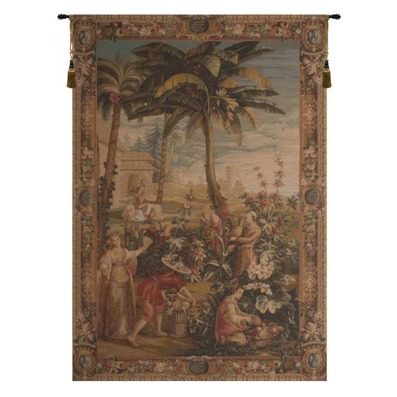La Recolte des Ananas I French Tapestry