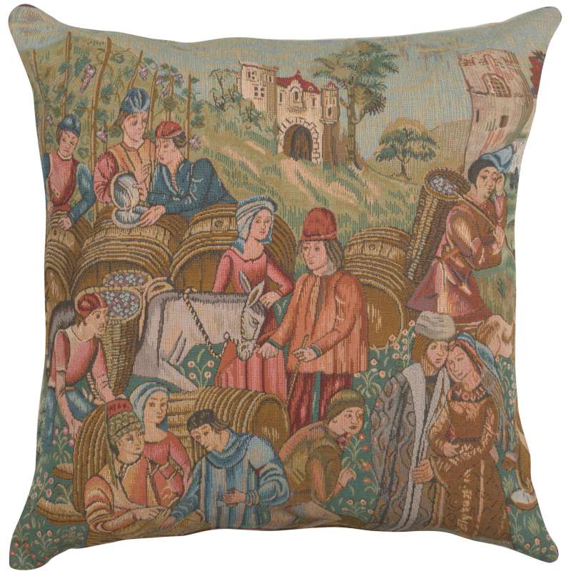 Wine Making II Decorative Tapestry Pillow