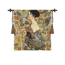 Klimt's Lady With Fan Tapestry Wall Art