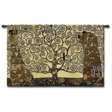 Stoclet Frieze Tree of Life Large Tapestry Wall Art
