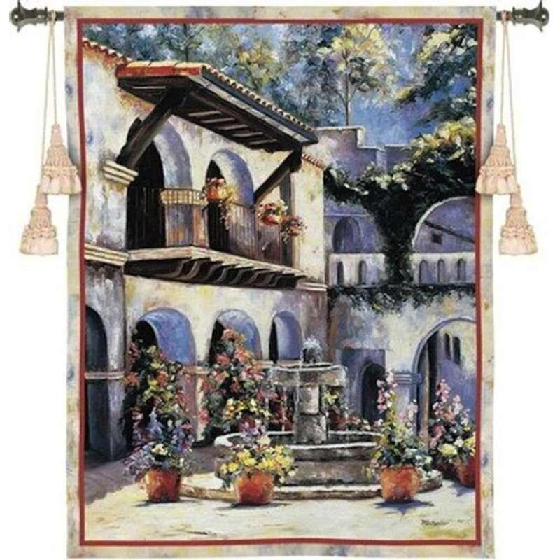 Spanish Estate Tapestry Wall Art