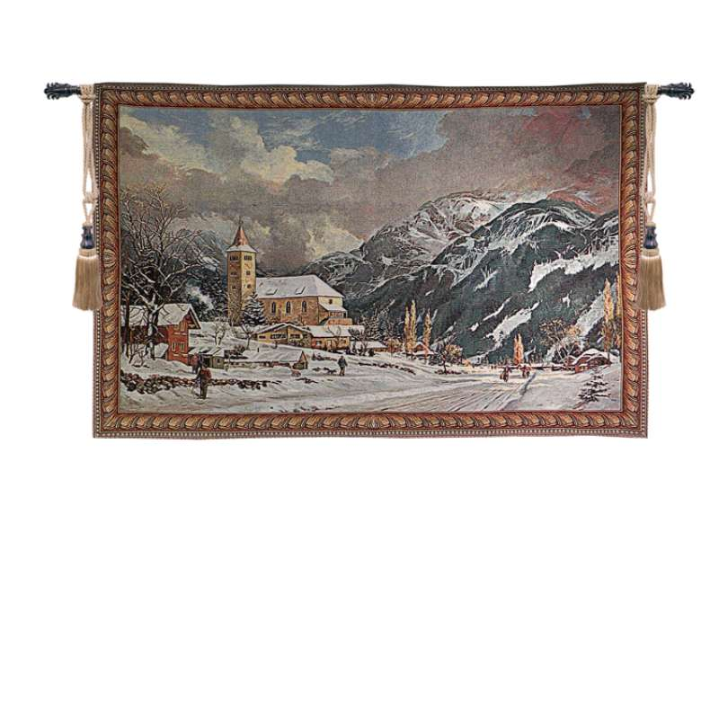 Alpine Village Tapestry Wall Art