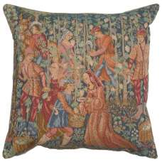Wine Making  French Tapestry Cushion