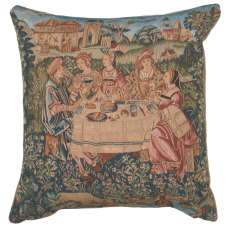 The Feast I French Tapestry Cushion