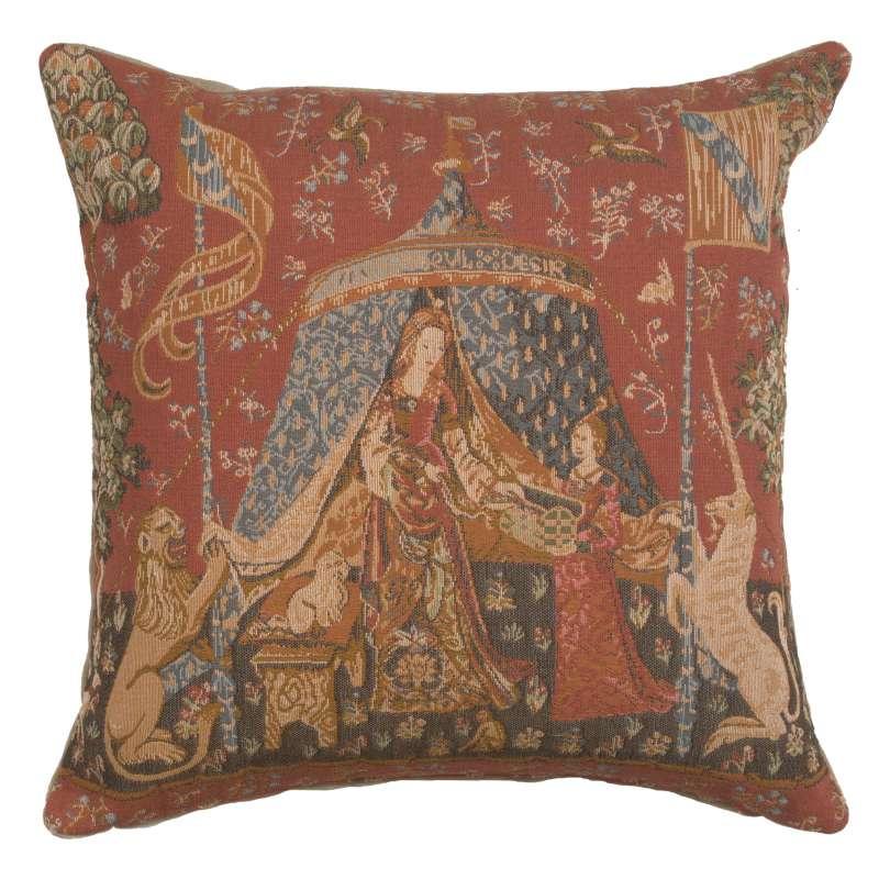 A Mon Seul Desir V Decorative Tapestry Pillow