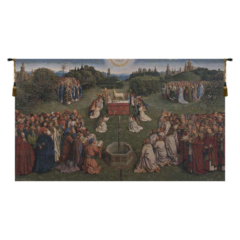 Adoration of the Mystic Lamb European Tapestry