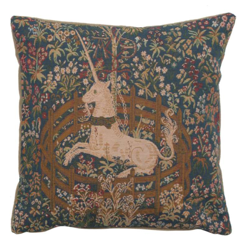 La Licorne Captive I French Tapestry Cushion