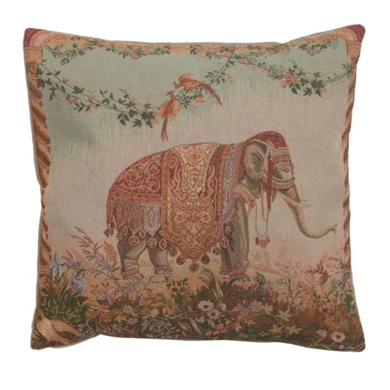 Elephant I French Tapestry Cushion
