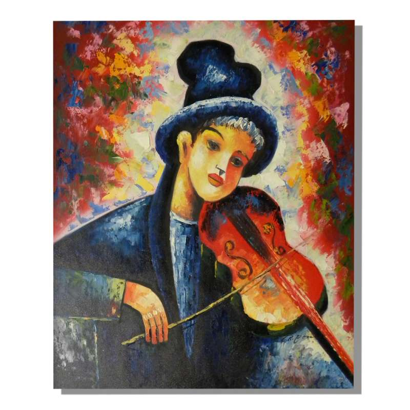 Violin Music Canvas Oil Painting