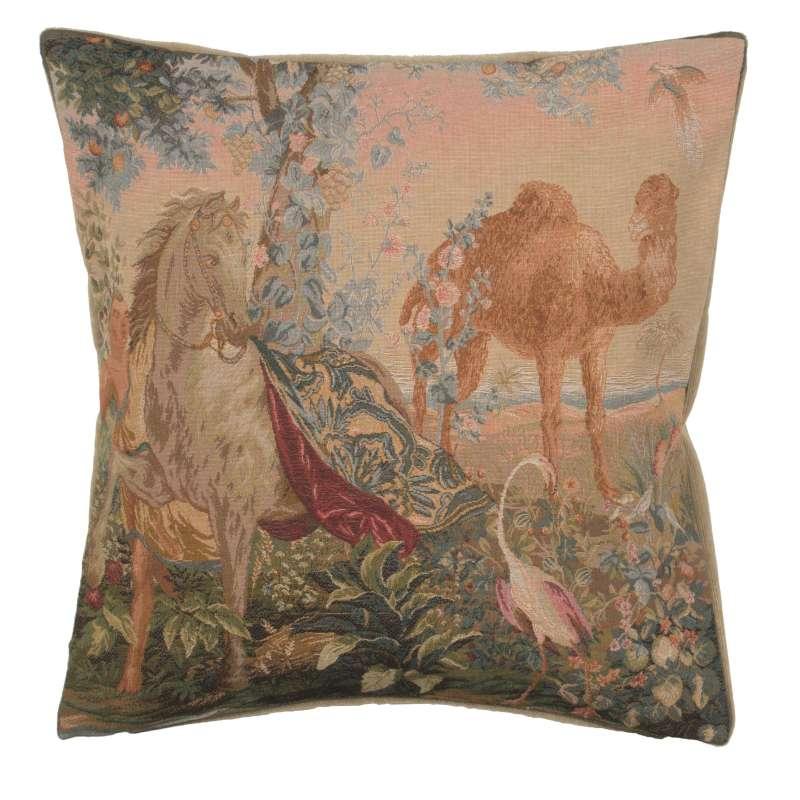 Cheval Drape I French Tapestry Cushion