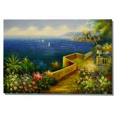 Villa View Canvas Oil Painting