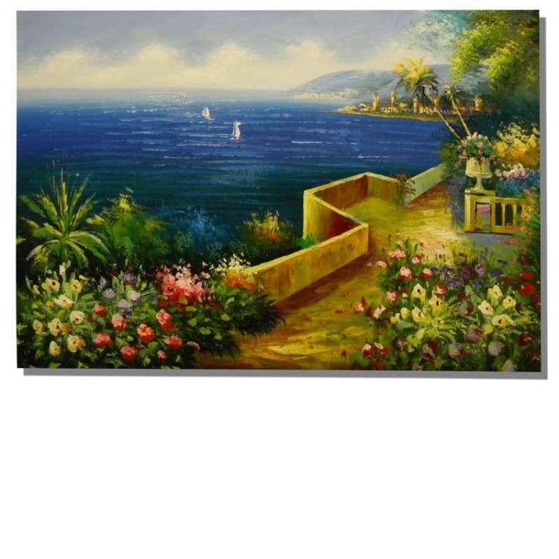 Villa View Canvas Oil Painting