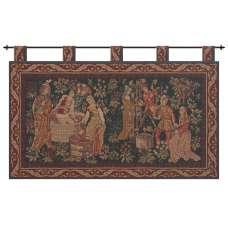 Le Vin Et la Vigne French Tapestry Wall Hanging