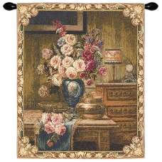Setting With Roses European Tapestry