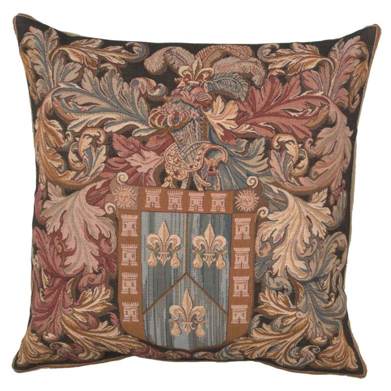 Armoires Au Heaume French Tapestry Cushion