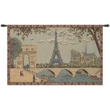 Paris, Arc and Notre Dame European Tapestry