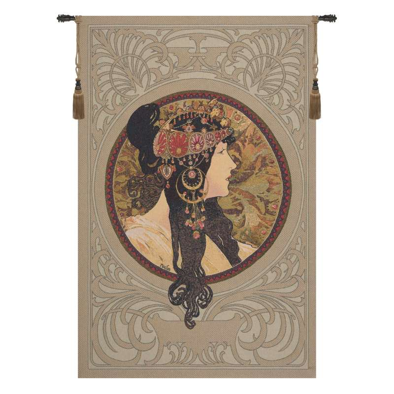 Brunette Byzantine European Tapestry