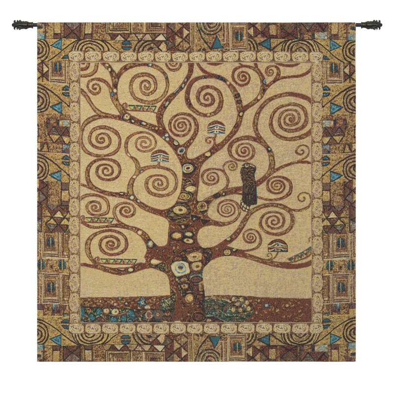 Stoclet Tree by Klimt European Tapestry Wall Hanging