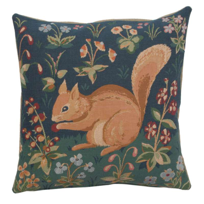 Tree Squirrel French Tapestry Cushion
