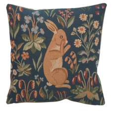 Medieval Rabbit Upright French Tapestry Cushion