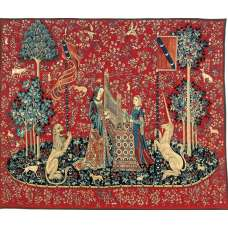 Dame A L'Orgue Organ French Tapestry Wall Hanging