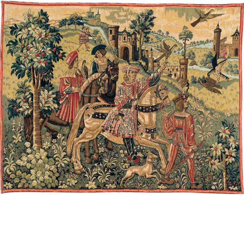 Depart De Chasse French Tapestry Wall Hanging