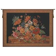 Flora Cotta Black Belgian Tapestry