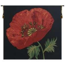 Poppy Red Belgian Tapestry