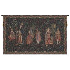 Courtly Scene Galanteries Belgian Tapestry