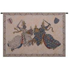 Tournament of Knights Roi Rene Belgian Tapestry