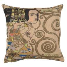 L'Attente - Klimt Jour French Tapestry Cushion
